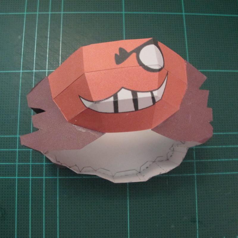 วิธีทำโมเดลกระดาษคุกกี้รัน คุกกี้รสโจรสลัด (Cookie Run Pirate Cookie Papercraft Model) 008