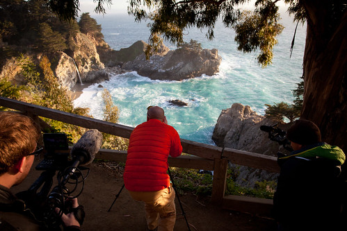 Manfrotto Be Free Tripod ad shoot BTS - McWay Falls | by The Bui Brothers