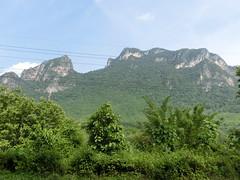 Beeindruckende Berglandschaft - Busaussicht, kurz vor Luang Prabang, Laos