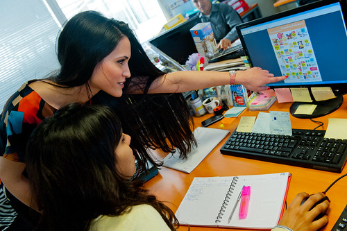 Soukaina and Mouna  work in a marketing department in Rabat | by World Bank Photo Collection