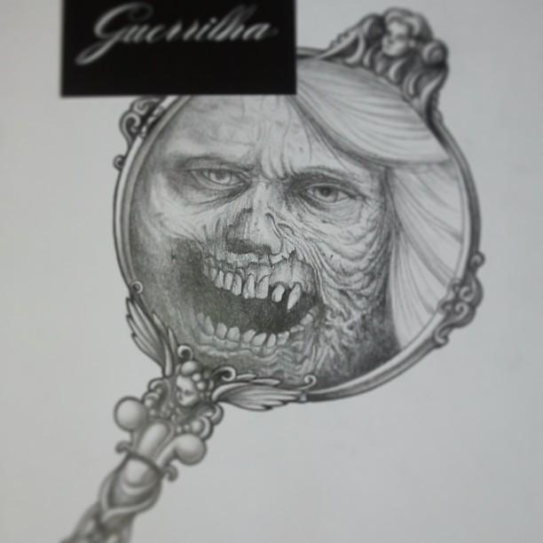 Desenho Finalizado Quem Curte Um Terror Já Temos Uma Arte