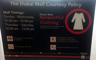 2013 - Dubai - Blog - Mall Respect Sign | by SeeJulesTravel