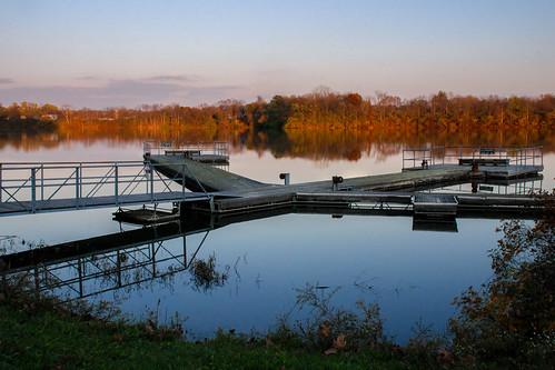 park sunset dock indiana richmond reservoir clear waynecounty middlefork pwfall
