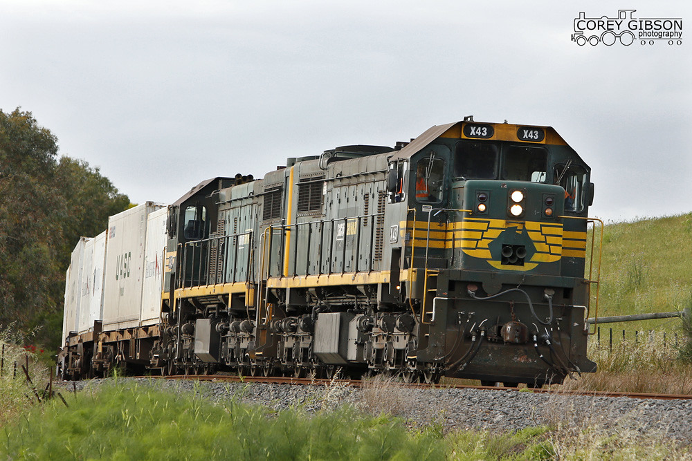 X43 & X42 with the 9204 Warrnambool Freight by Corey Gibson