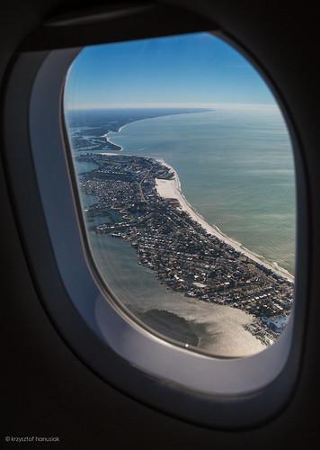 ocean beach window airplane view unitedstates florida aerial fl ftmyers ftmyersbeach fortmyersbeach hanusiak