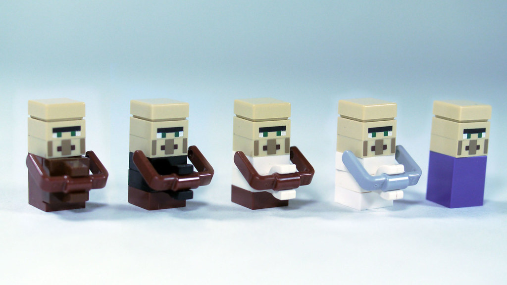 LEGO Minecraft Villagers (Micromob) | See how to build them:… | Flickr