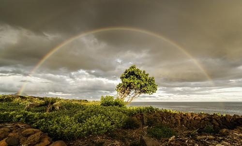 nature arcoiris landscape hawaii rainbow scenery day colours cloudy paisaje kauai