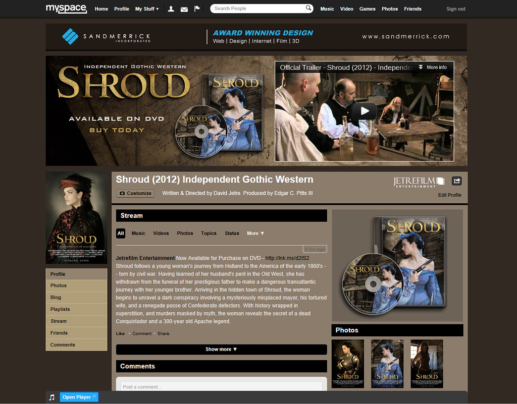 Shroud MySpace Header | Web Designer: David Jetre | Flickr