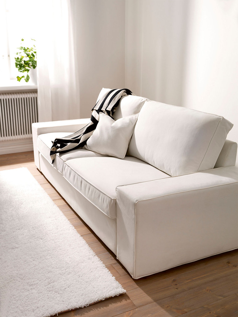 IKEA Kivik 3 seater sofa cover - White Slipcover | White Cot ...