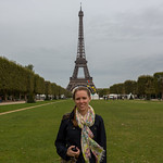 Emily at the Eiffel Tower