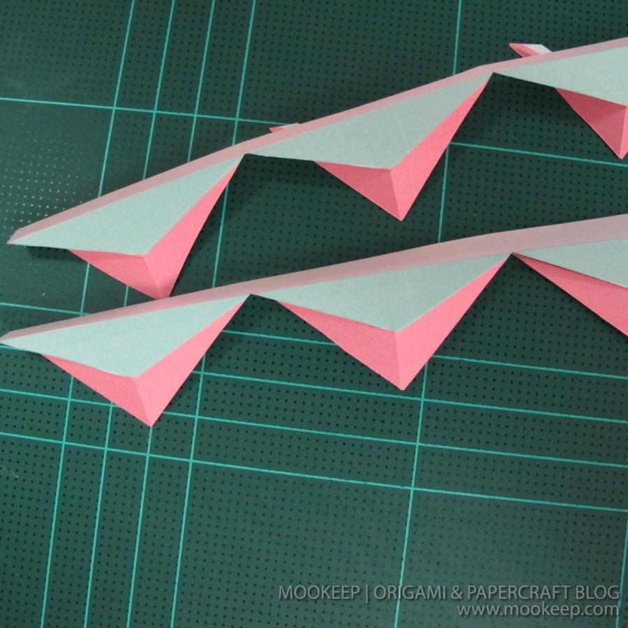 สอนทำโมเดลกระดาษเป้นรูปแจกันโบราณ (Papercraft Model Flower Vase) 004