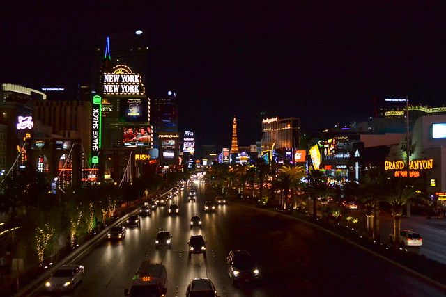 Looking above the strip