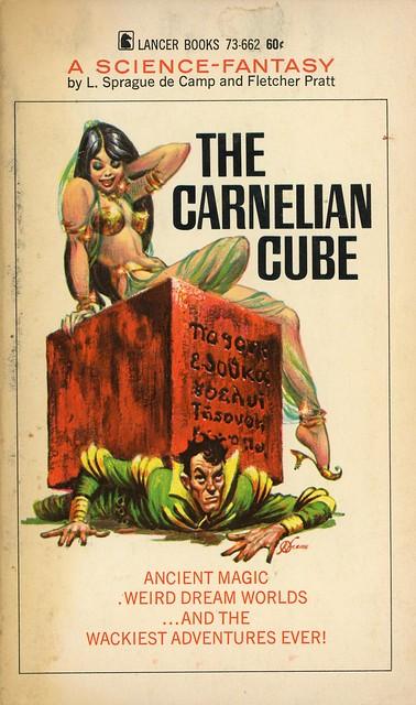 Lancer Books 73-662 - L. Sprague de Camp & Fletcher Pratt - The Carnelian Cube