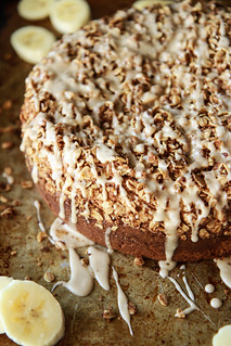 Banana Streusal Coffee Cake- Vegan and Gluten Free from HeatherChristo.com | by Heather Christo