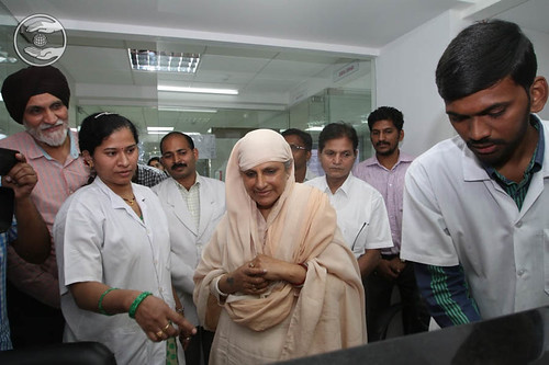Her Holiness going-round the blood bank