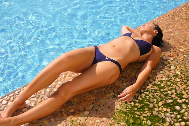 J Relaxing in her Foxy Thong Bikini