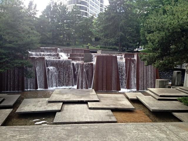 The Ira C. Keller Fountain in Portland, Oregon
