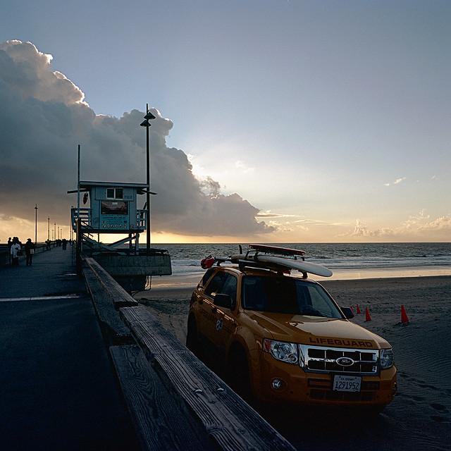 sunset. venice beach, ca. 2011.