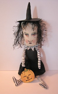 Halloween witch art doll | by Sandy Mastroni