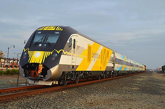 Siemens Brightline Train En-Route to Florida!