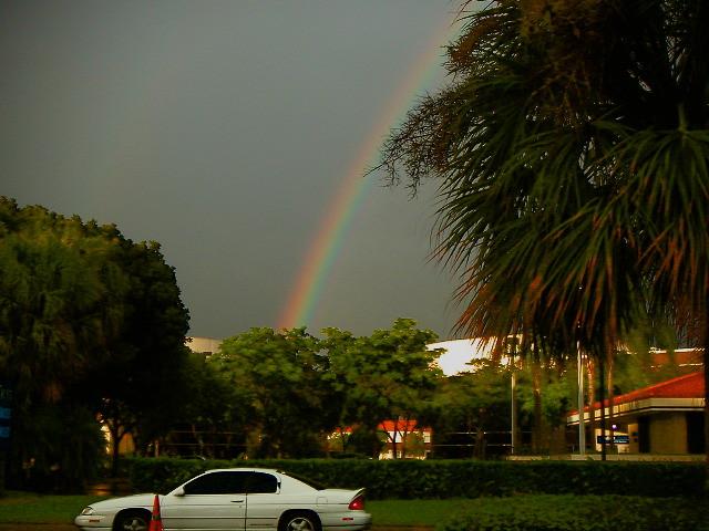 West Palm Beach Florida Double Rainbow Leads To A....? - IMRAN™