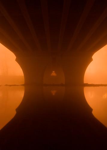 dreamtime night dream fog bridge temple vesicapiscis symmetry missoula montana