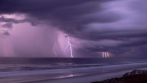 ocean favorite usa beach night bravo purple florida been1of100 lightning atlanticocean weeklysurvivor ponceinlet