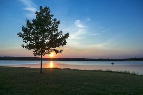 trees sunset lake water michigan sunsets olympus michiganfavorites stonycreeklake olympusomd em5ii