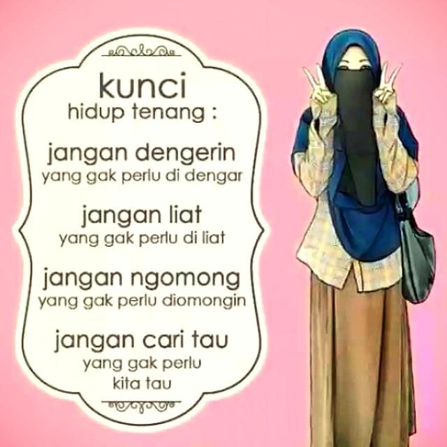 kunci hidup tenang itu simple islamicquotes istiqomah flickr