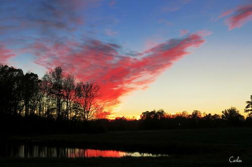 sunset sky sun reflection silhouette outdoors northcarolina greensboro