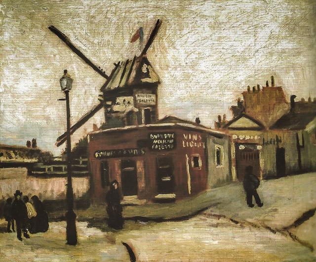 Vincent van Gogh - Le Moulin de le Galette, 1886 (Museum Langmatt - Baden Switzerland) at Van Gogh Repetitions Exhibit - Phillips Collection Art Gallery Washington DC