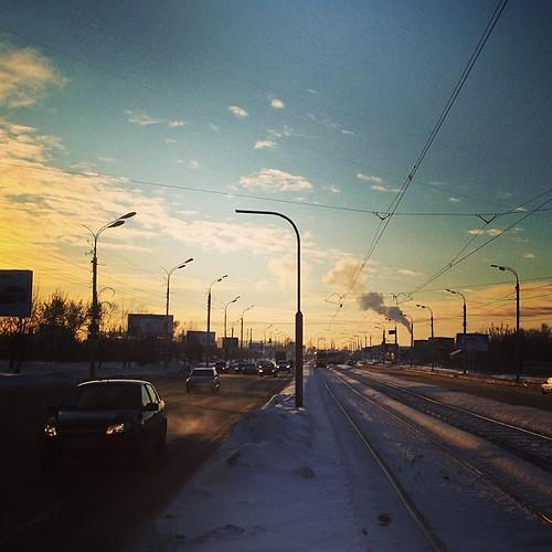 winter sunrise square industrial squareformat ижевск iphoneography instagramapp