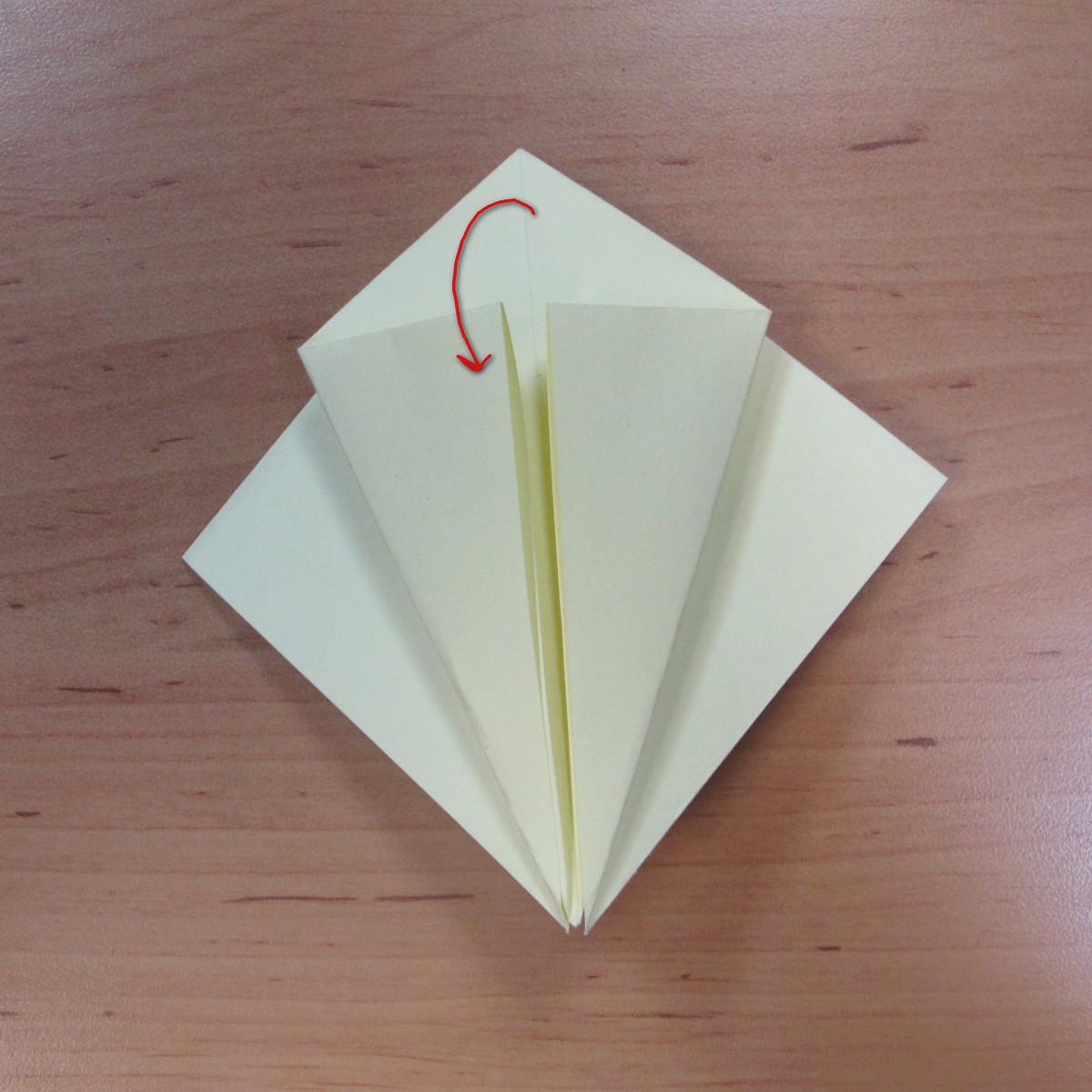 วิธีพับกระดาษเป็นดอกกุหลายแบบเกลียว 007
