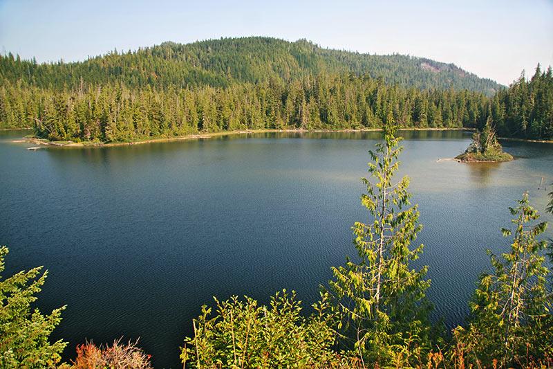 Alice Lake, Port Alice, Neroutsos Inlet, Vancouver Island, British Columbia, Canada