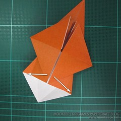 วิธีพับกระดาษเป็นรูปหมี (Origami Bear) 004