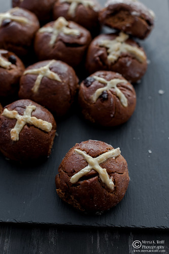 Chocolate Prune Cherry Hot Corss Buns (0005) | by Meeta Wolff @ What's For Lunch, Honey?