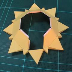 วิธีทำของเล่นโมเดลกระดาษรูปพระอาทิตย์ยิ้ม (Smiling Sun Paper Craft Model) 008