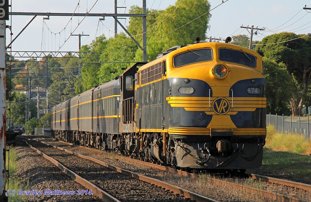 B74-T357 with #8396 up SRHC chartered pass special to Southern Cross Station at Pascoe Vale (1/3/2014) by Bradley Matthews