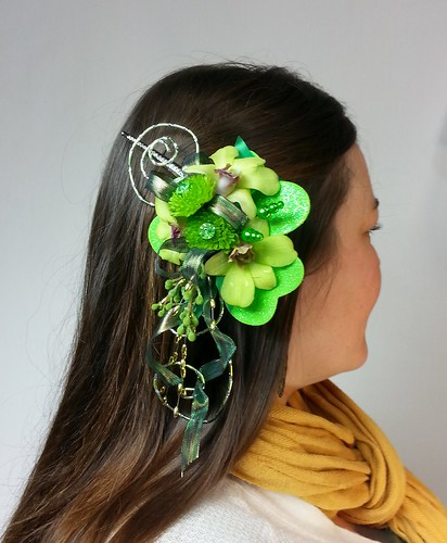 St Patrick's Day Hair Clip by Blumz by JRDesigns in metro Detroit | by Flower Factor