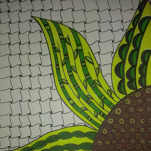 Sunflower Zentangle - a little something I have been worki ...