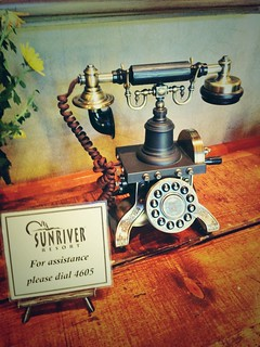 Steampunk phone at Sunriver