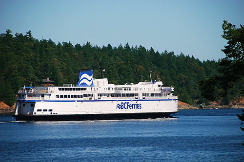 BC Ferry departing for Vancouver from Long Harbour, Saltspring Island, Gulf Islands, British Columbia, Canada