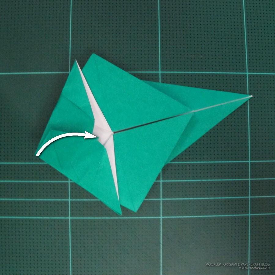 วิธีพับกระดาษเป็นรูปหมู (Origami Pig) 015