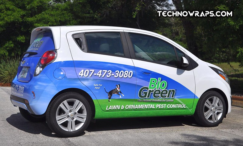 Partial car wrap by TechnoSigns in Orlando