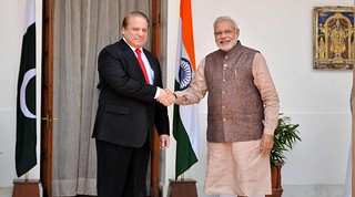 Prime Minister meeting with Prime Minister of Pakistan, Nawaz Sharif in New Delhi (May 27, 2014) | by MEAphotogallery