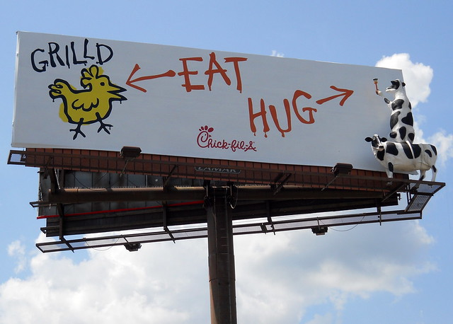 Eat Chicken, Hug Cows Billboard