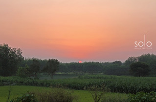 Sunset on way to Delhi
