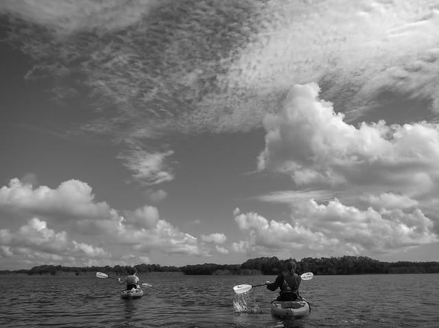kayaks & clouds