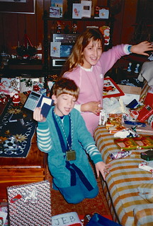 Indiana   -   Terre Haute   -   RR 21 Box 443   -   Christmas   -   Jessica & Jeb  (We still have that calculator)   -   December 1984