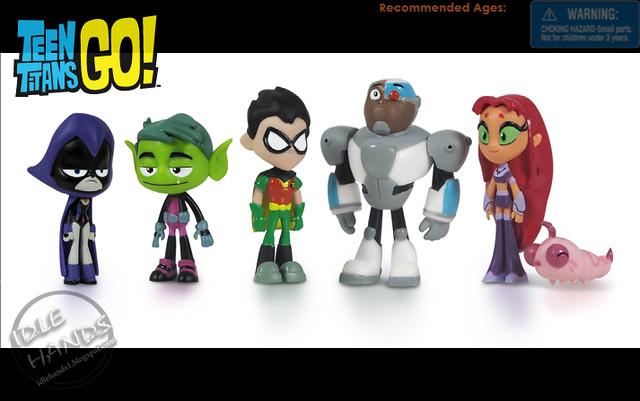 Teen Titans Go Deluxe Mini Figures Pack of 6